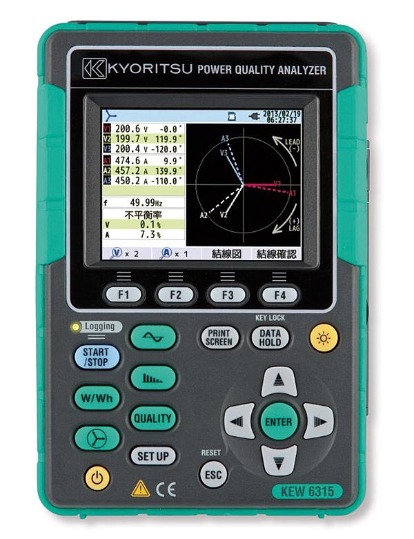 KEW 6315  to analizator jakości  energii nadający się  do zastosowań  w wielu dziedzinach energetyki