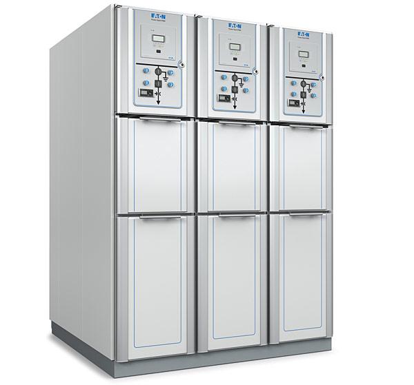 Rys. 1.  Rozdzielnica SN Power Xpert FMX firmy Eaton  jest dedykowana dla stacji elektroenergetycznych dystrybucji pierwotnej energetyki zawodowej  oraz aplikacji przemysłowych