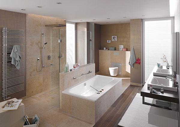 Wymagania użytkowników w różnym wieku należy uwzględnić już na etapie planowania łazienki. W łazience przeznaczonej dla wszystkich pokoleń domowników powinno się znaleźć miejsce zarówno no wannę, jak i na prysznic