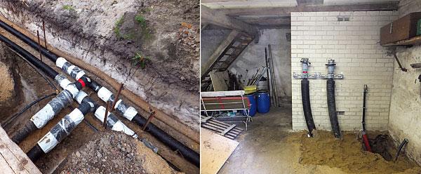 Ciepło z biogazowni w Otternhagen jest przesyłane systemem preizolowanych rur Flexalen do gospodarstwa hodowlanego i okolicznych domów