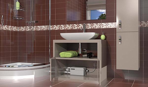 Pompa Sanidouche przeznaczona jest do współpracy z prysznicem lub małą wanną