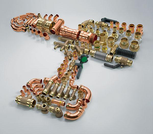 """Wprowadzenie """"pośredniego"""" wymiaru DN 64 do systemu instalacyjnego Profipress ułatwia wybór odpowiedniego wymiaru rury w szerokim zakresie średnic znamionowych – od 12 do 108 mm"""